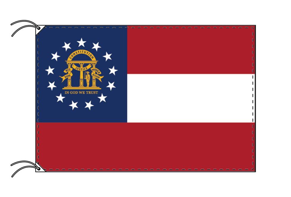 ジョージア州旗[アメリカ合衆国の州旗・100×150cm・高級テトロン製], サツマグン:e967a47f --- sunward.msk.ru