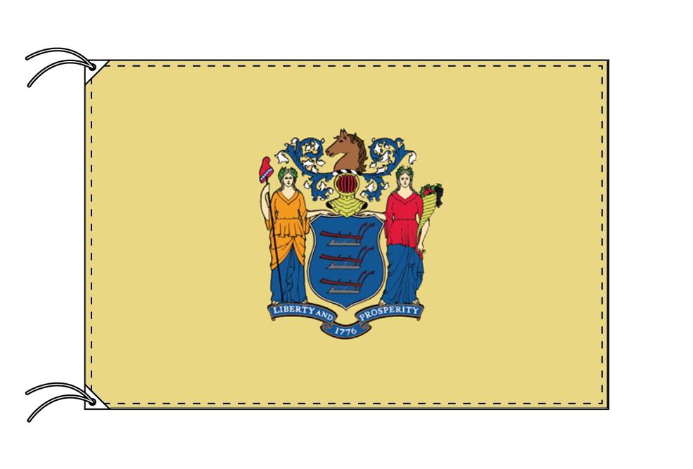 ニュージャージー州旗[アメリカ合衆国の州旗・90×135cm・高級テトロン製]