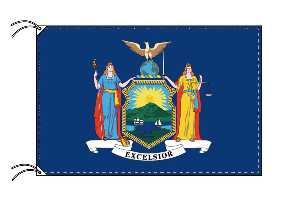 ニューヨーク州旗[アメリカ合衆国の州旗・100×150cm・高級テトロン製]