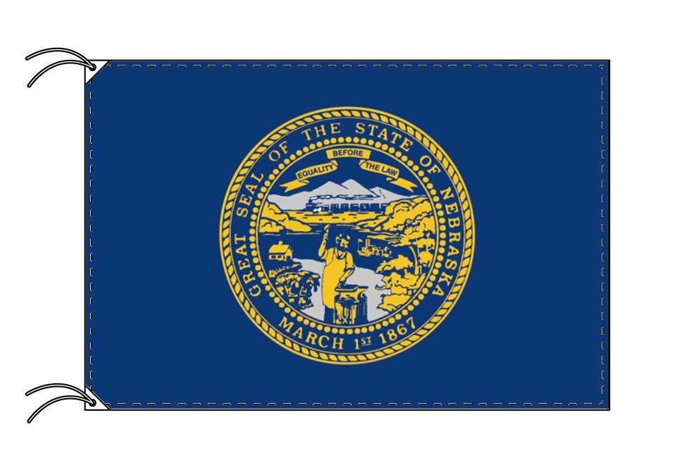 ネブラスカ州旗[アメリカ合衆国の州旗・90×135cm・高級テトロン製]