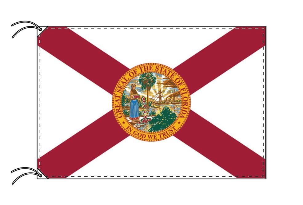 フロリダ州旗[アメリカ合衆国の州旗・120×180cm・高級テトロン製]