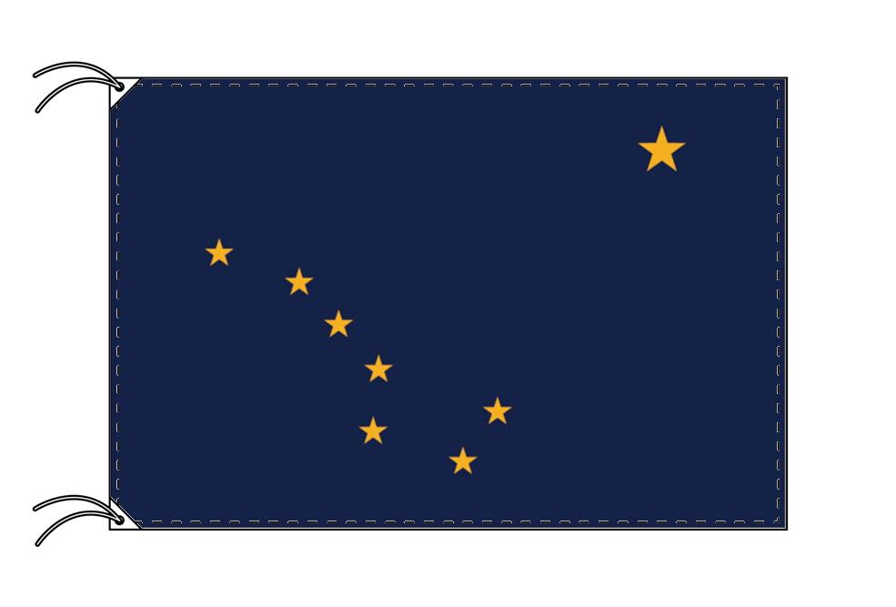 アラスカ州旗[アメリカ合衆国の州旗・90×135cm・高級テトロン製]