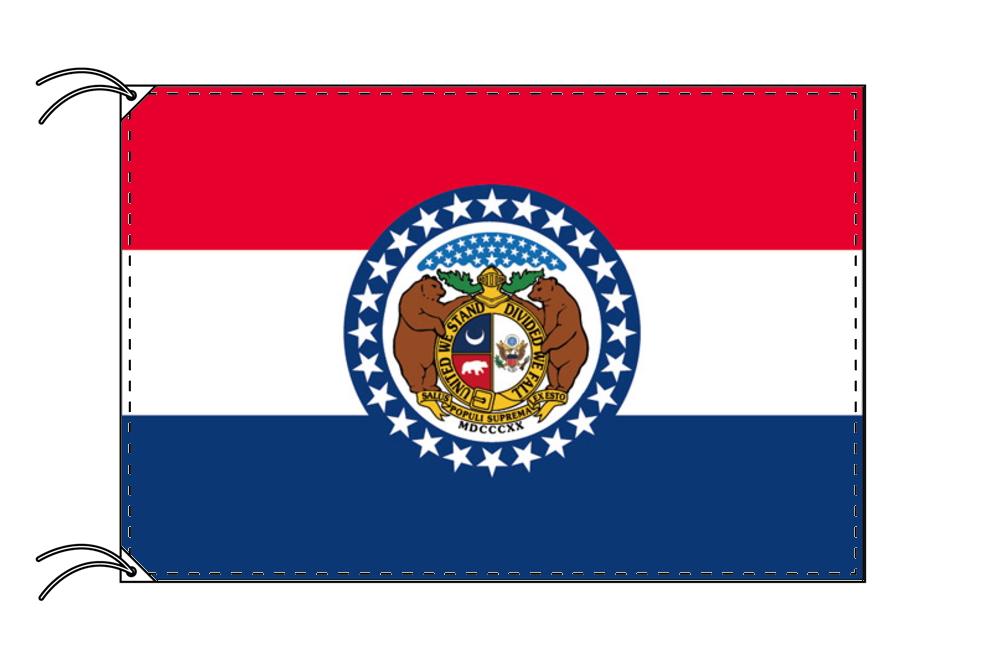 ミズーリ州旗[アメリカ合衆国の州旗・90×135cm・高級テトロン製]