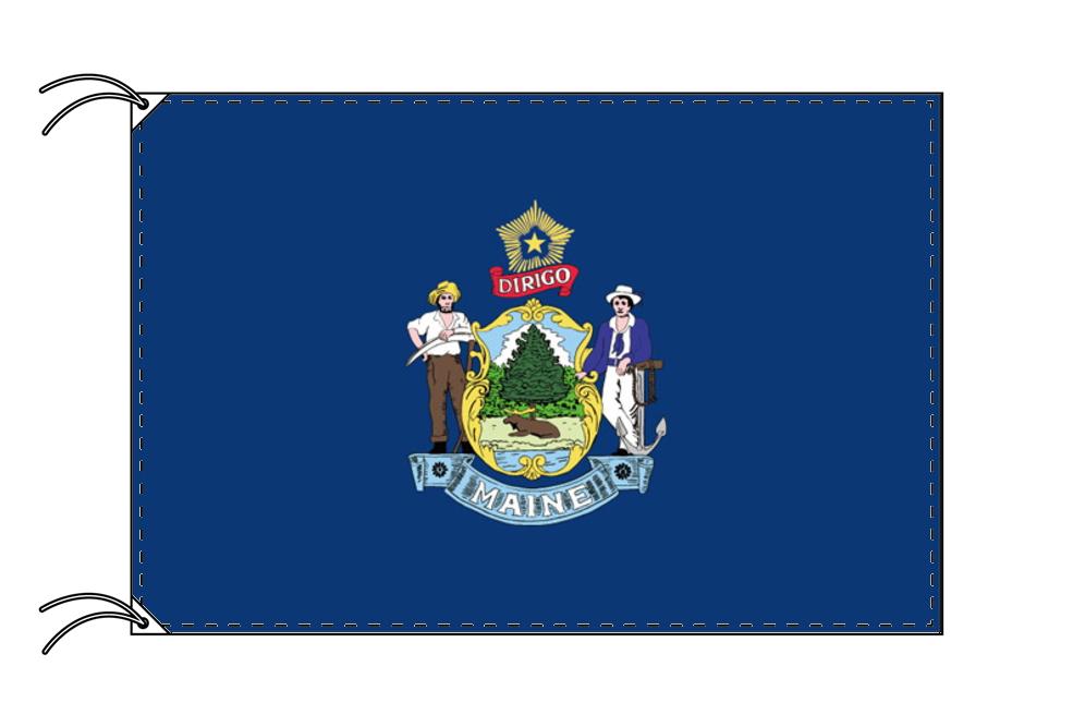 メイン州旗[アメリカ合衆国の州旗・100×150cm・高級テトロン製], アロハコーポレーション:84c0ee4f --- sunward.msk.ru