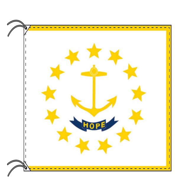 ロードアイランド州旗[アメリカ合衆国の州旗・120×180cm・高級テトロン製]