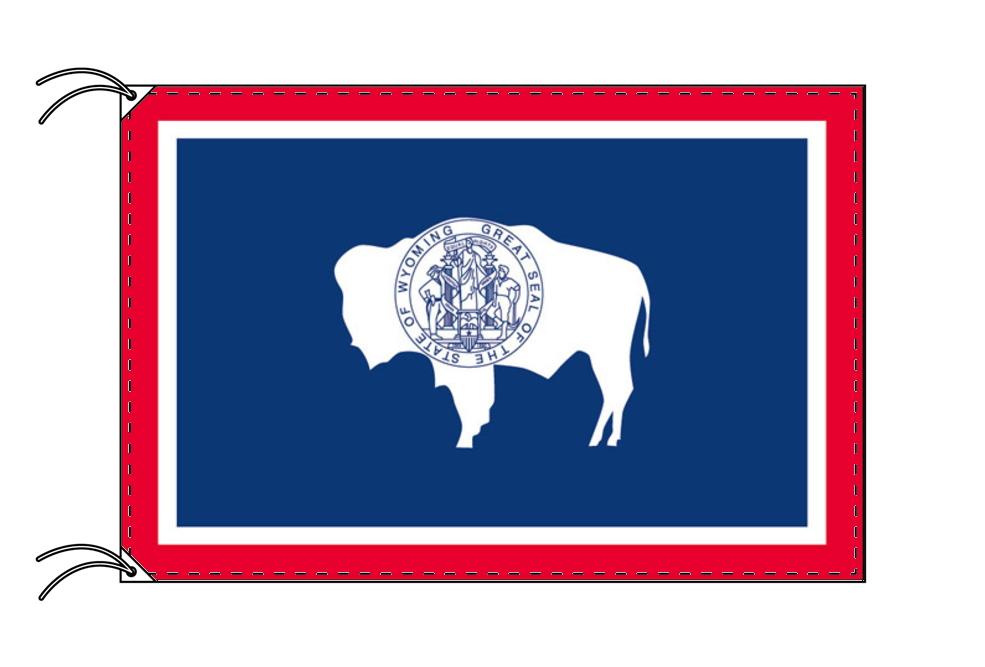 ワイオミング州旗[アメリカ合衆国の州旗・90×135cm・高級テトロン製]