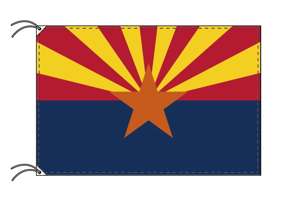 アリゾナ州旗[アメリカ合衆国の州旗・120×180cm・高級テトロン製]
