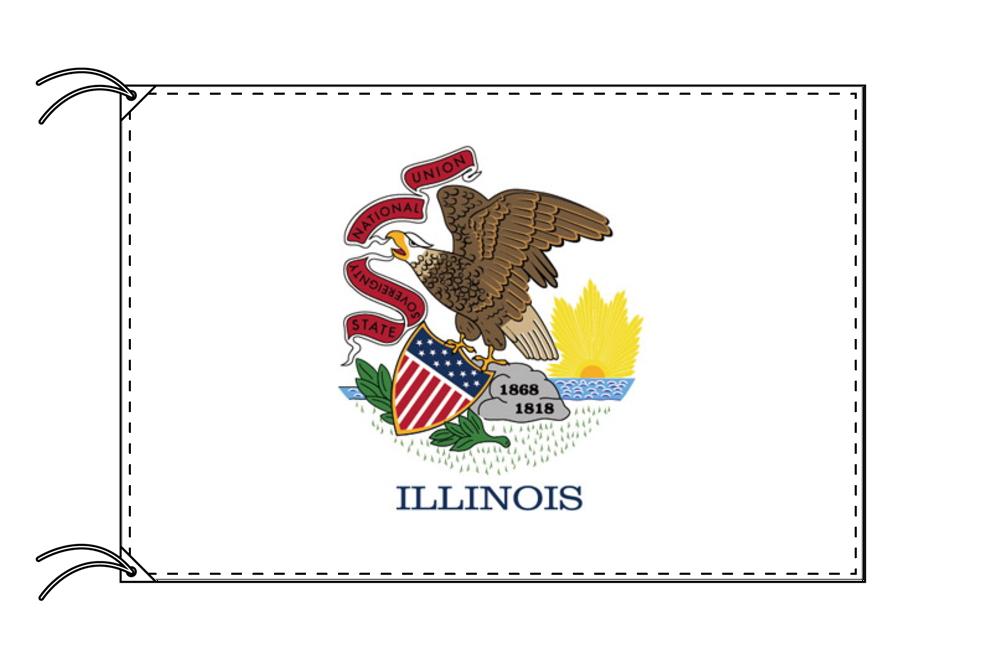 イリノイ州旗[アメリカ合衆国の州旗・90×135cm・高級テトロン製]