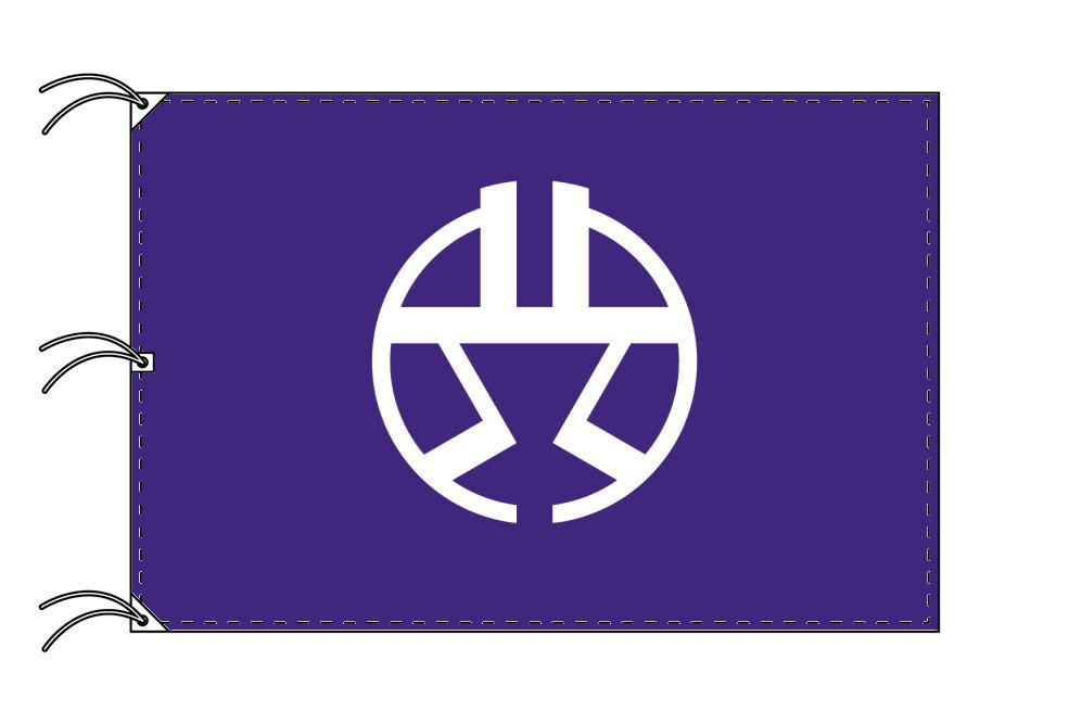 渋谷区 区旗(140×210cm・東京都23区・テトロン製・日本製)