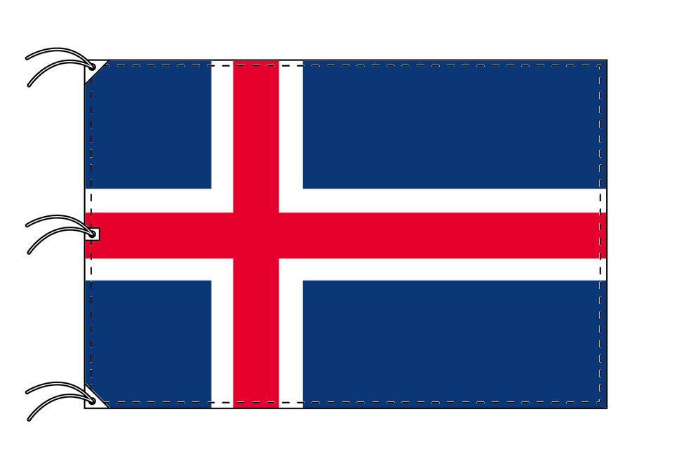 世界の国旗 アイスランド国旗[180×270cm・高級テトロン製]NO.5号