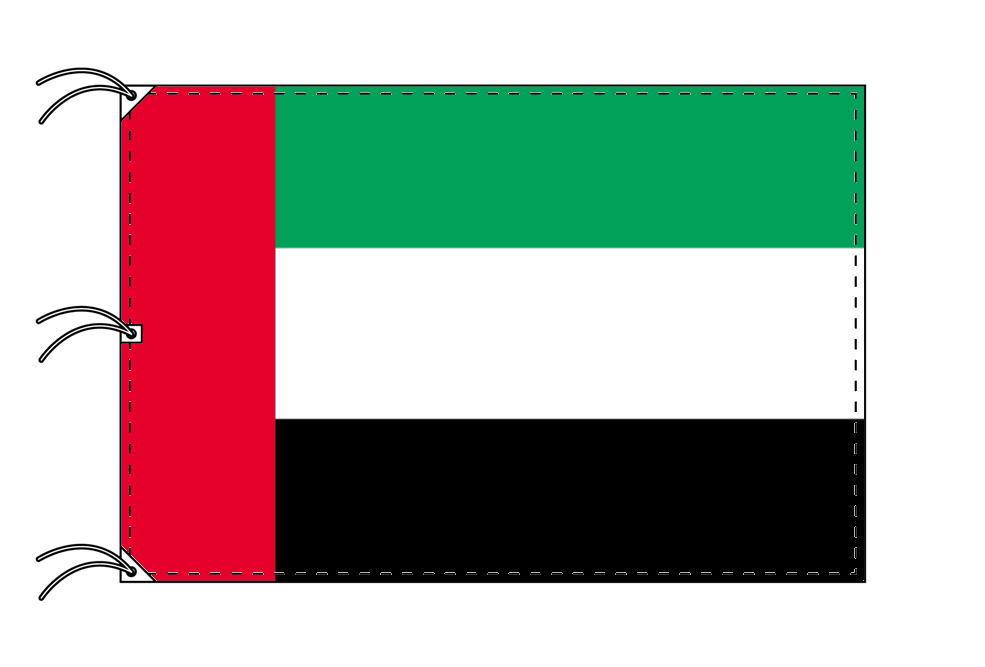 世界の国旗 アラブ首長国連邦国旗[200×300cm・高級テトロン製]NO.6号
