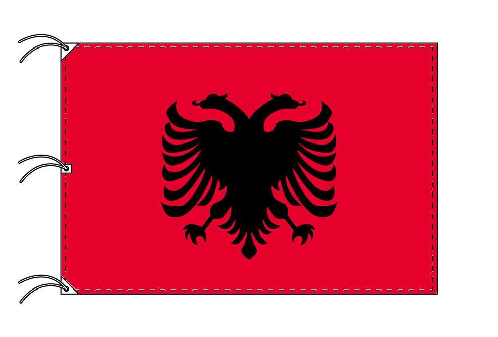 世界の国旗 アルバニア国旗[200×300cm・高級テトロン製]NO.6号