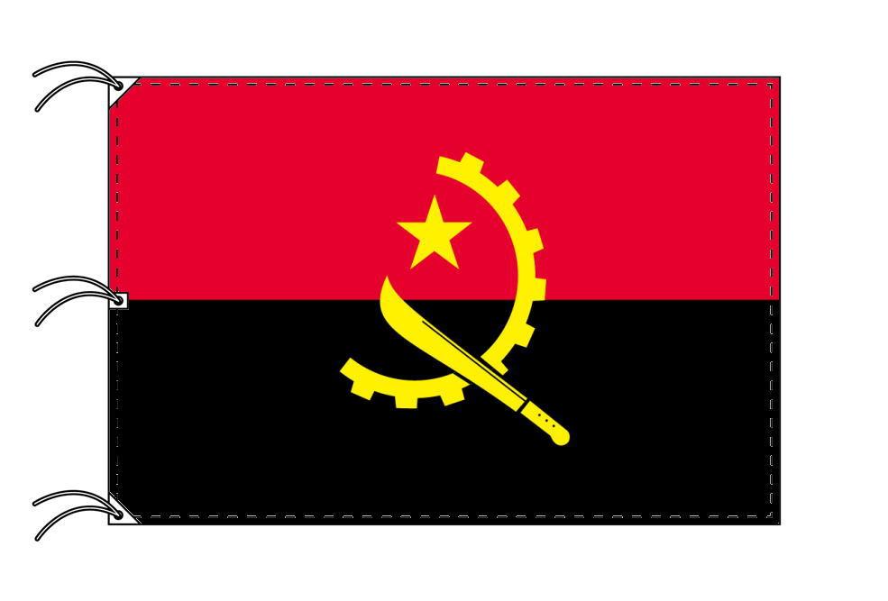 世界の国旗 アンゴラ国旗[200×300cm・高級テトロン製]NO.6号