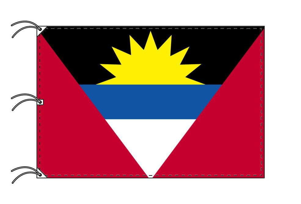 世界の国旗 アンチグア・バーブーダ国旗[200×300cm・高級テトロン製]NO.6号