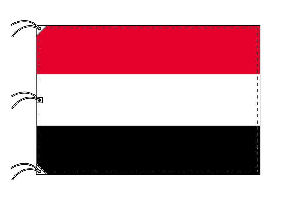 世界の国旗 イエメン国旗[200×300cm・高級テトロン製]NO.6号