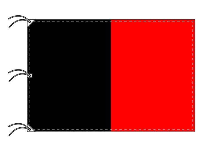 イタリア・州旗 ヴァッレ・ダオスタ州(140×210cm・高級テトロン製・日本製)