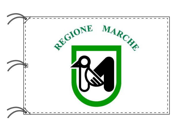 イタリア・州旗 マルケ州(140×210cm・高級テトロン製・日本製)