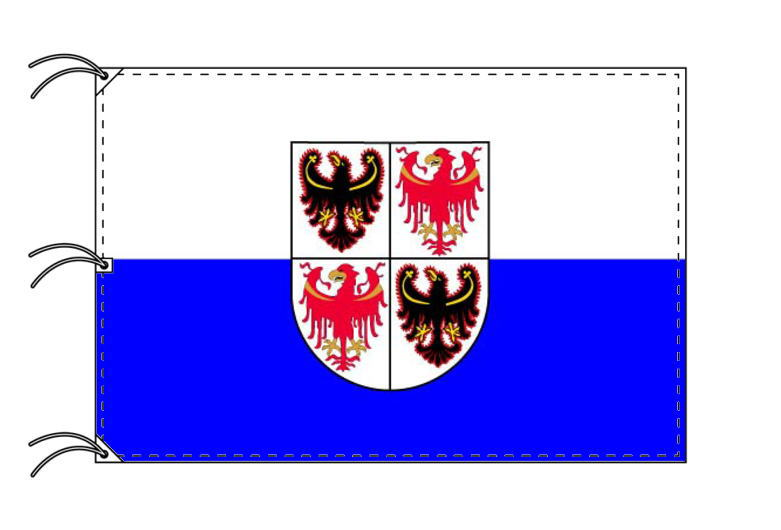 イタリア・州旗 トレンティーノ=アルト・アディジェ州(140×210cm・高級テトロン製・日本製)