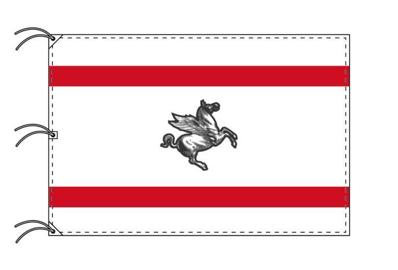 イタリア・州旗 トスカーナ州(140×210cm・高級テトロン製・日本製)