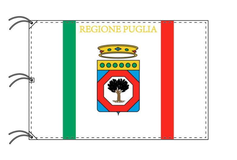 イタリア・州旗 プッリャ州(140×210cm・高級テトロン製・日本製)