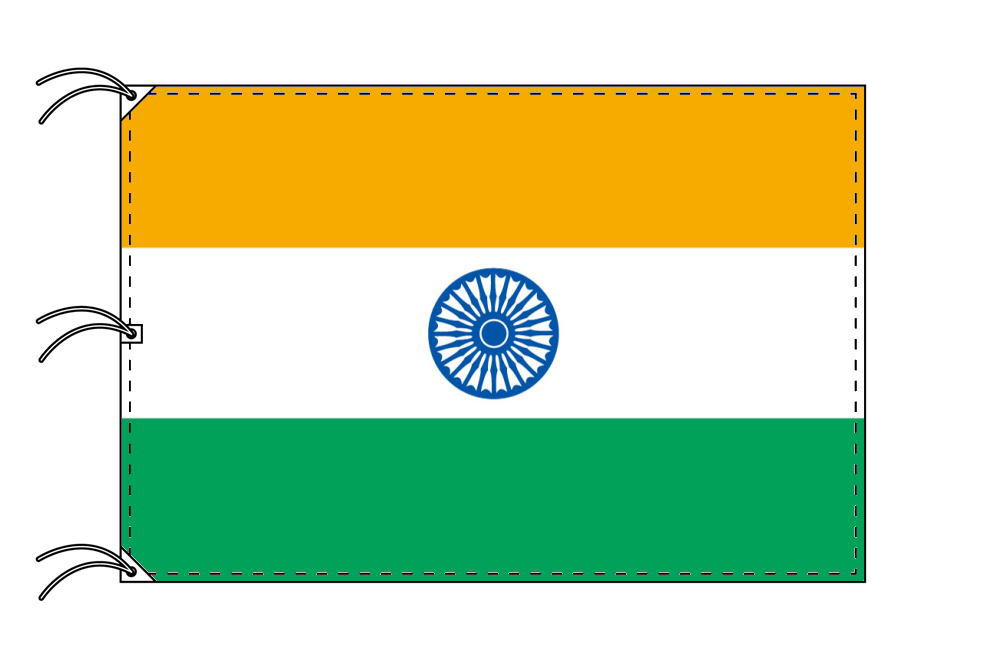 世界の国旗 インド国旗[200×300cm・高級テトロン製]NO.6号