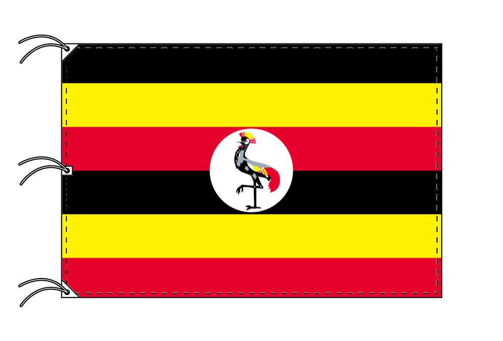 世界の国旗 ウガンダ国旗[200×300cm・高級テトロン製]NO.6号