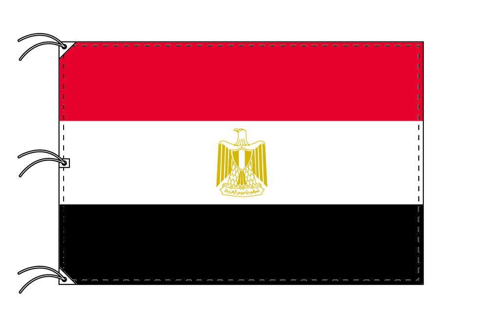 世界の国旗 エジプト国旗[200×300cm・高級テトロン製]NO.6号