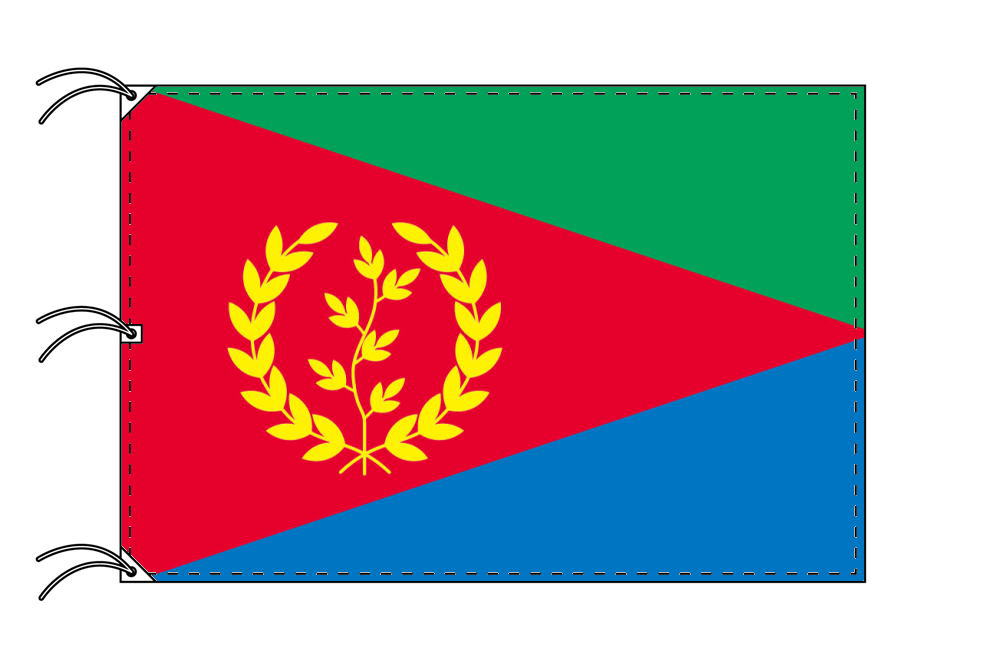 世界の国旗 エリトリア国旗[200×300cm・高級テトロン製]NO.6号