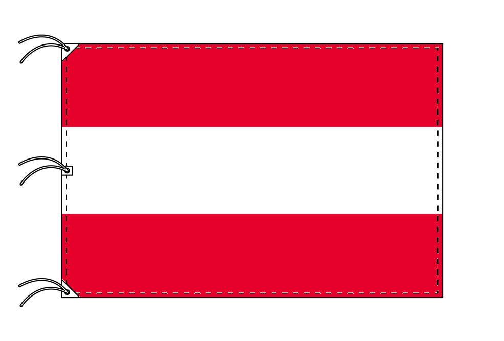 世界の国旗 オーストリア国旗[200×300cm・高級テトロン製]NO.6号