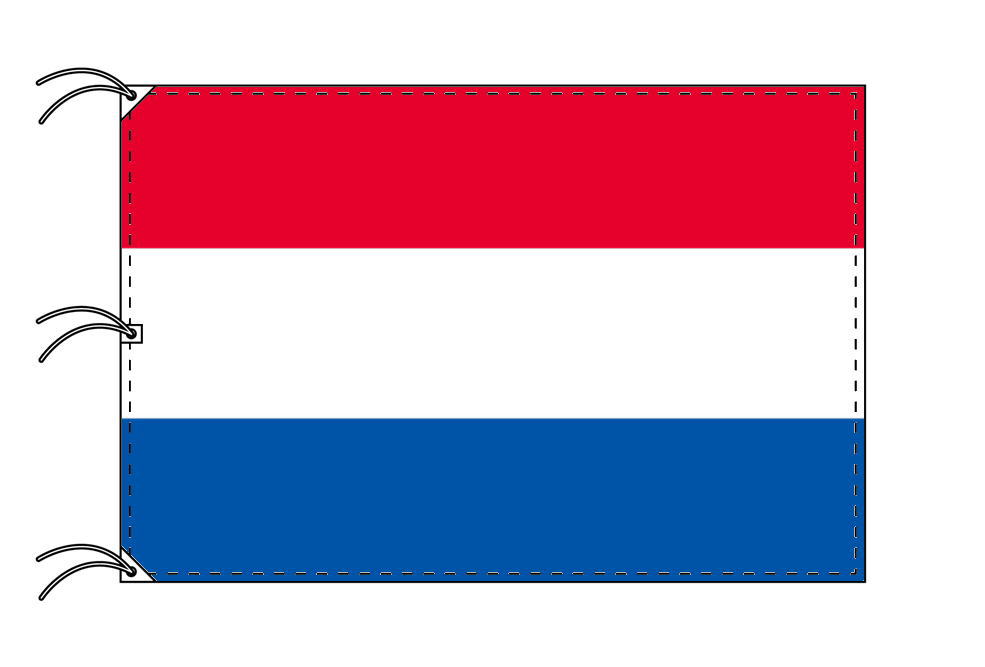 世界の国旗 オランダ国旗[200×300cm・高級テトロン製]NO.6号
