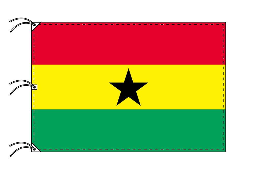 世界の国旗 ガーナ国旗[200×300cm・高級テトロン製]NO.6号