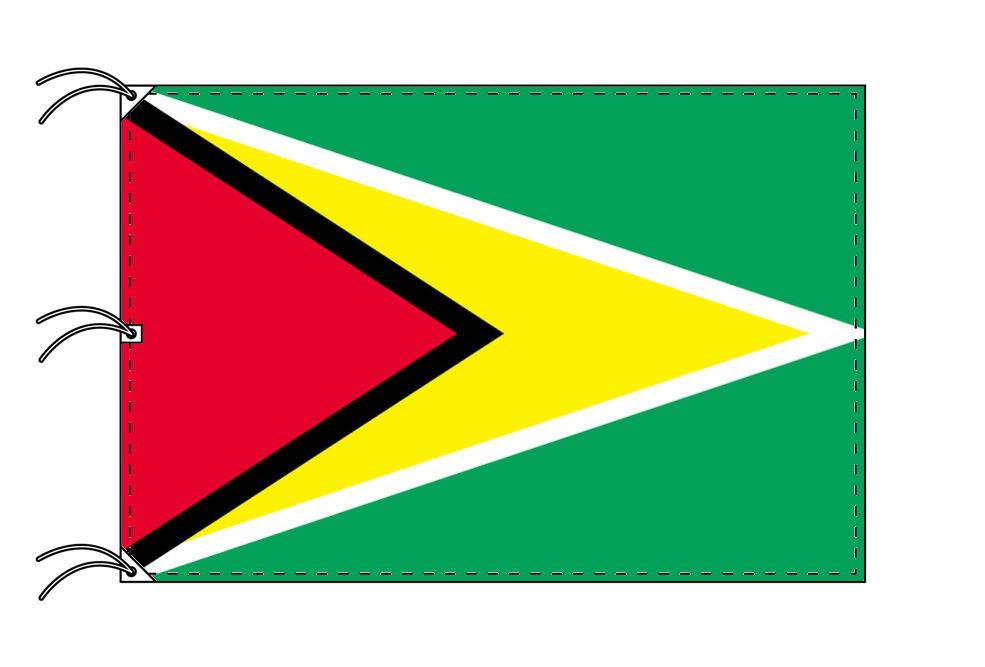 世界の国旗 ガイアナ国旗[200×300cm・高級テトロン製]NO.6号