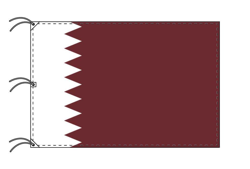 世界の国旗 カタ-ル国旗[200×300cm・高級テトロン製]NO.6号