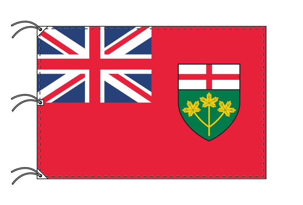 オンタリオ州の旗 カナダの州旗 140×210cm テトロン製 日本製 世界各国の州旗シリーズ