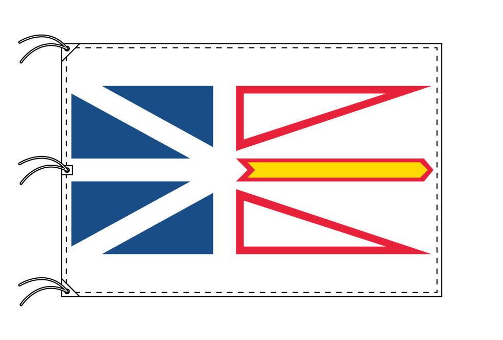 ニューファンドランド・ラブラドール州の旗 カナダの州旗 140×210cm テトロン製 日本製 世界各国の州旗シリーズ