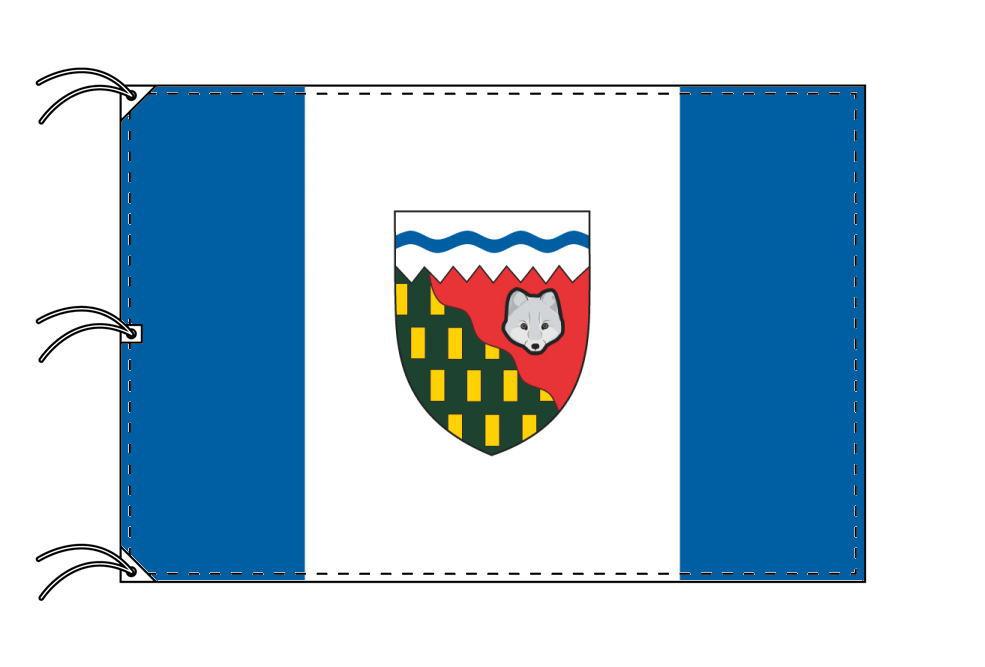 ノースウェスト準州の旗 カナダの州旗 140×210cm テトロン製 日本製 世界各国の州旗シリーズ