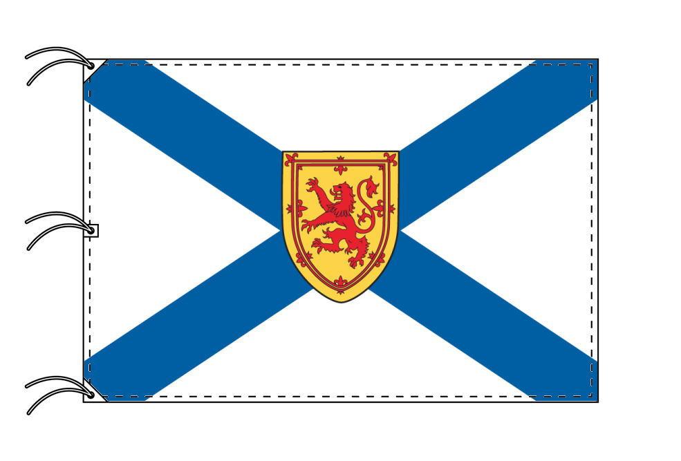 ノバスコシア州の旗 カナダの州旗 140×210cm テトロン製 日本製 世界各国の州旗シリーズ