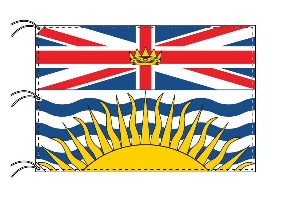 ブリティッシュコロンビア州の旗 カナダの州旗 140×210cm テトロン製 日本製 世界各国の州旗シリーズ