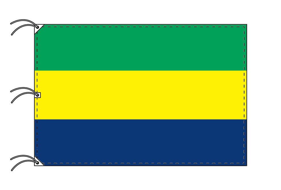 世界の国旗 ガボン国旗[200×300cm・高級テトロン製]NO.6号