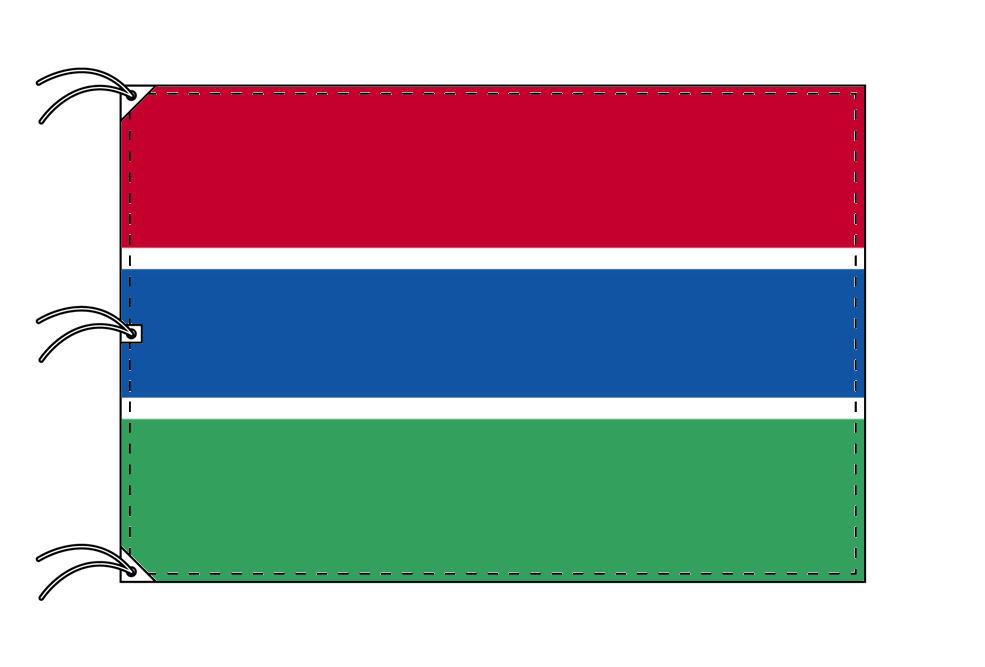 世界の国旗 ガンビア国旗[200×300cm・高級テトロン製]NO.6号