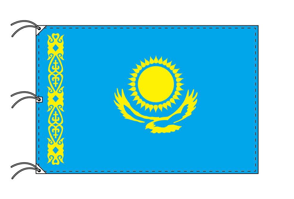 世界の国旗 カザフスタン国旗[200×300cm・高級テトロン製]NO.6号