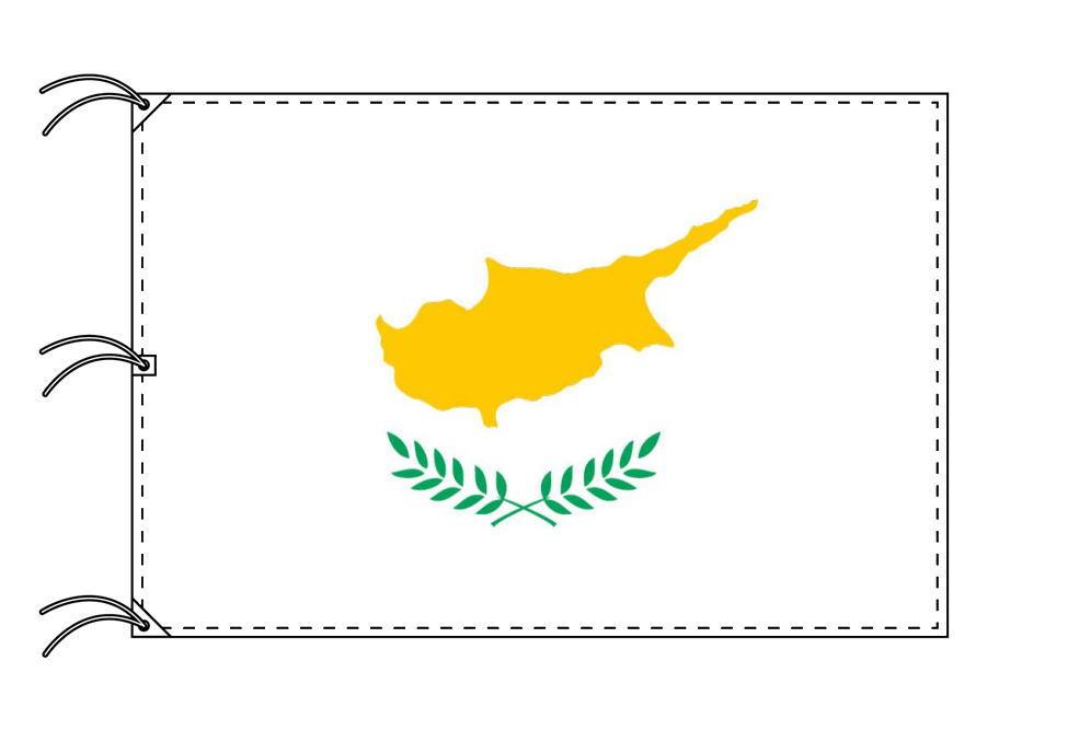 世界の国旗 キプロス国旗[200×300cm・高級テトロン製]NO.6号