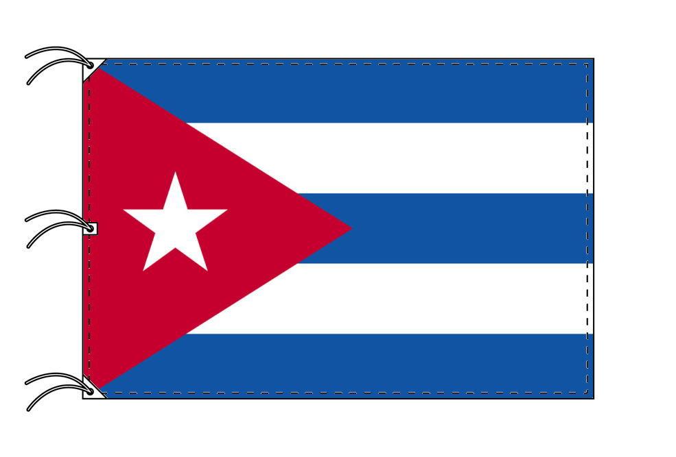 世界の国旗 キューバ国旗[200×300cm・高級テトロン製]NO.6号