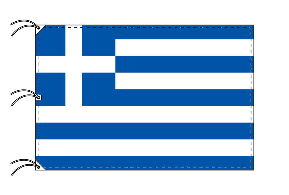 世界の国旗 ギリシャ国旗[200×300cm・高級テトロン製]NO.6号