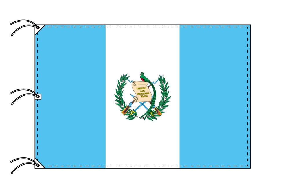世界の国旗 グアテマラ国旗[200×300cm・高級テトロン製]NO.6号