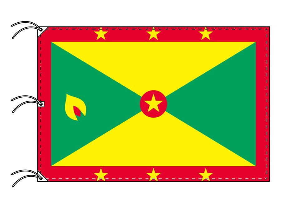世界の国旗 グレナダ国旗[200×300cm・高級テトロン製]NO.6号