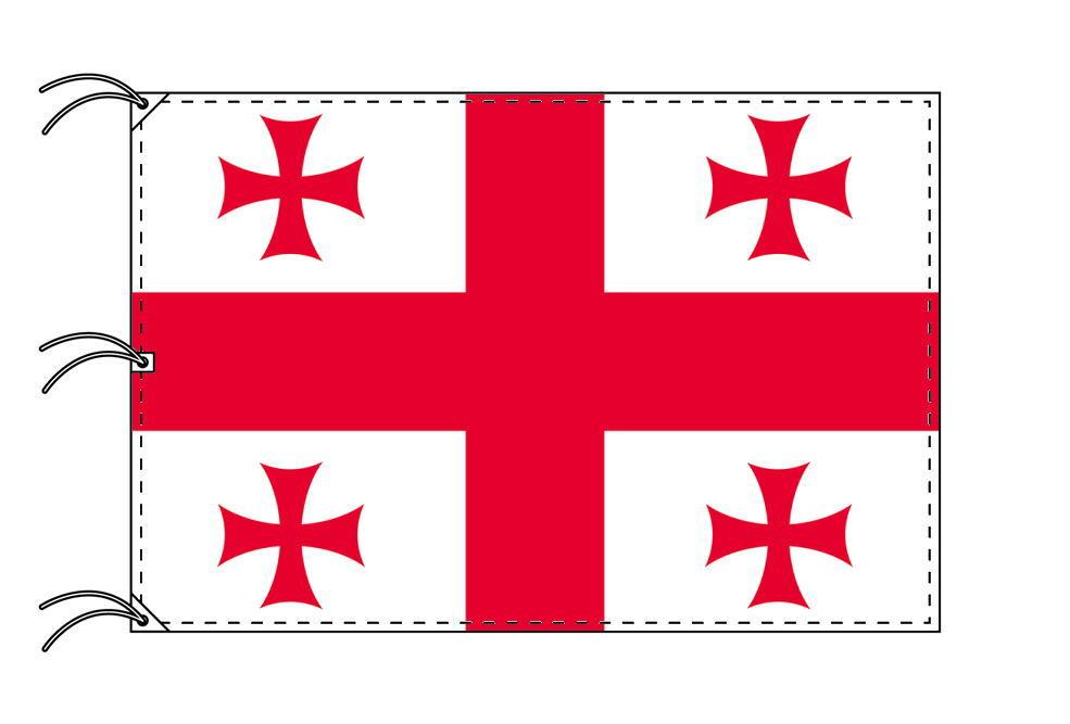 世界の国旗 ジョージア(グルジア)国旗[200×300cm・高級テトロン製]NO.6号