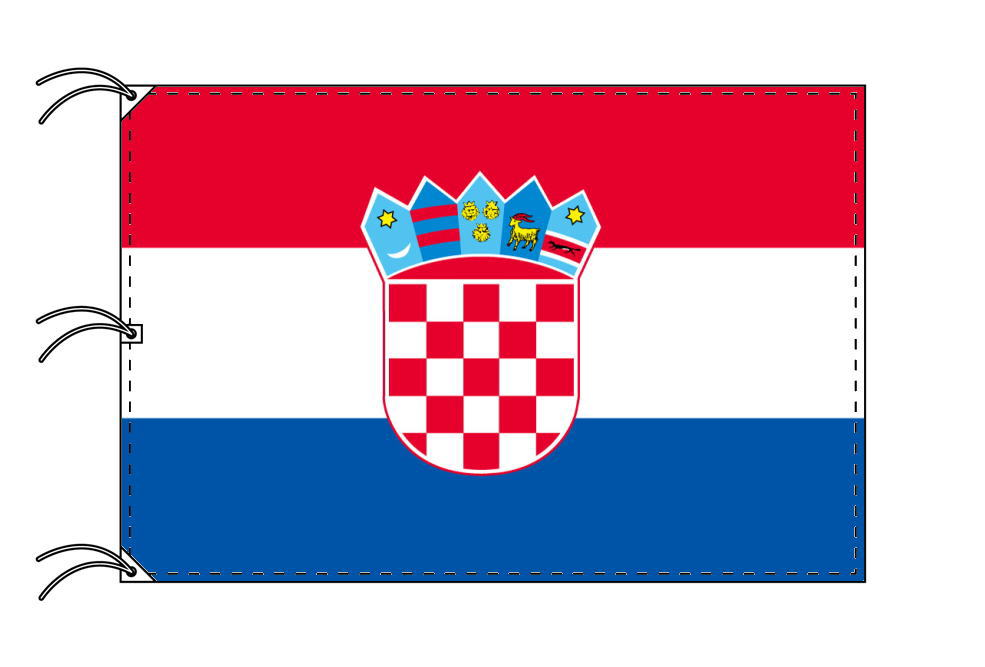 世界の国旗 クロアチア国旗[200×300cm・高級テトロン製]NO.6号