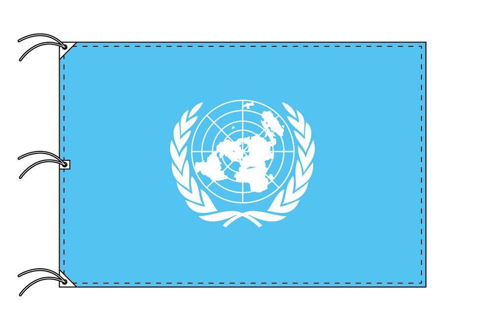 世界の国旗 国際連合[UN]旗[200×300cm・高級テトロン製]NO.6号