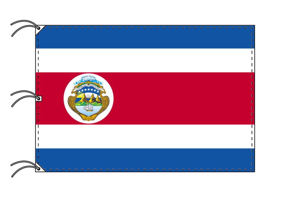 世界の国旗 コスタリカ[紋章入]国旗[200×300cm・高級テトロン製]NO.6号